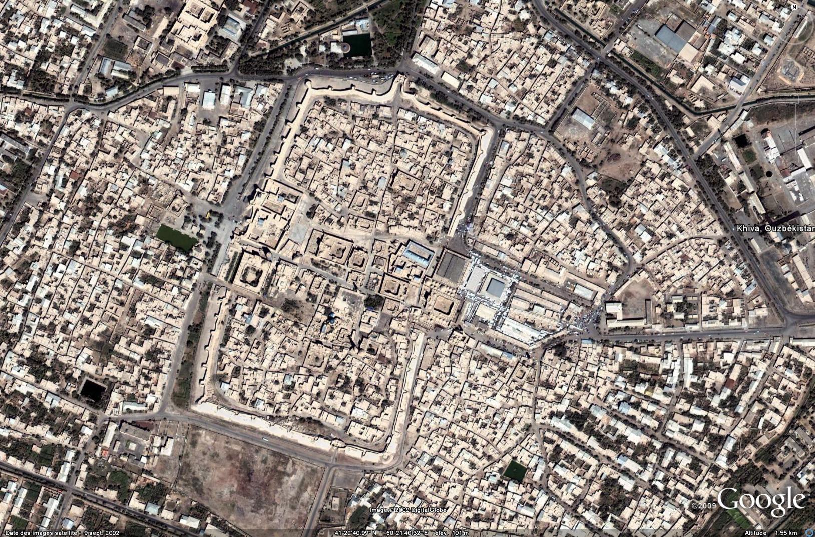 Khiva, Google Earth